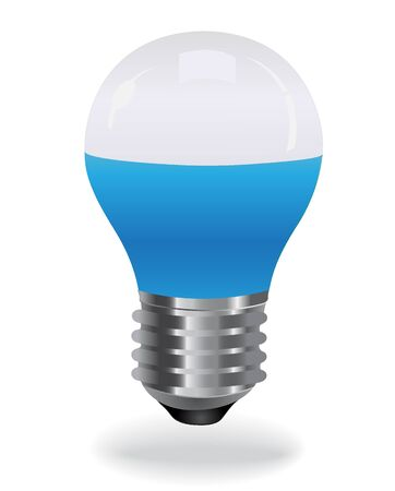 led light: LED light bulb, blue Illustration