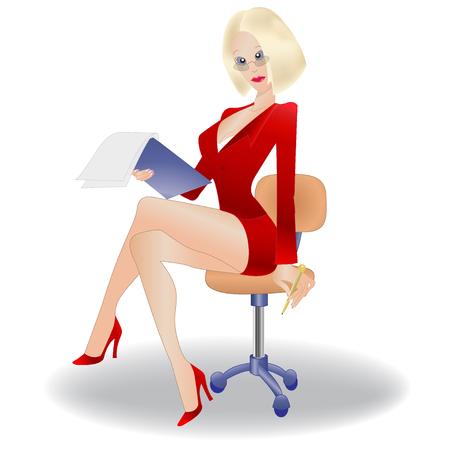 Secrétaire, femme d'affaires Banque d'images - 56469921