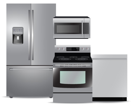appliance: Steel kitchen appliance package