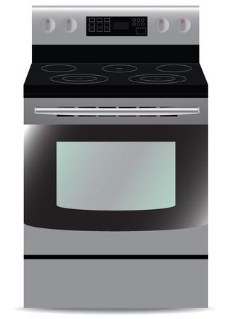 kitchen stove: Kitchen, Stove, isolated,steel