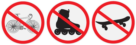 No bikes, ride, roller, allowed, sign Stock fotó - 56469956