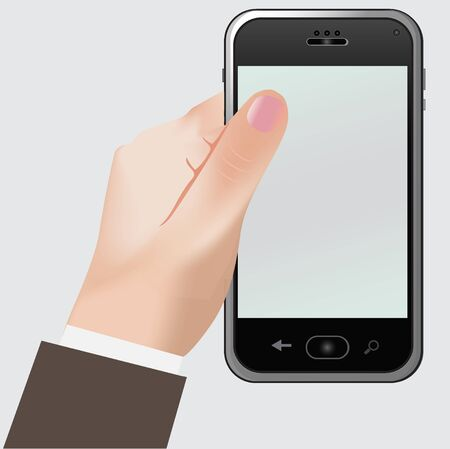 hand touch: Phone, hand
