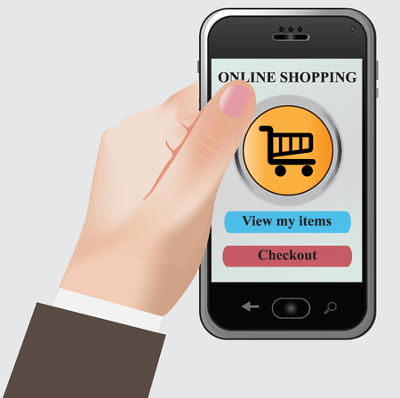 smart phone: Internet, shopping, smart, phone Illustration