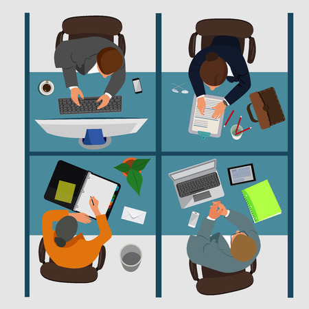 business workplace, vector illustration