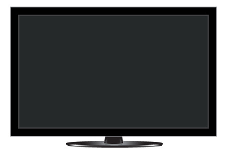 Tv with shadow Illustration