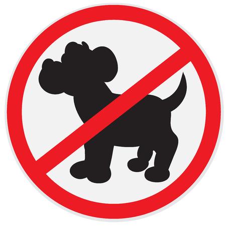 Pas de signe de chiens  Banque d'images - 56563656