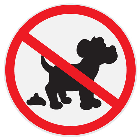 No dog poop sign Illustration