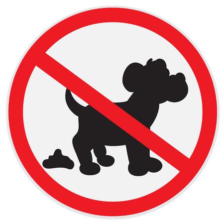 prohibido: No hay señales de caca de perro