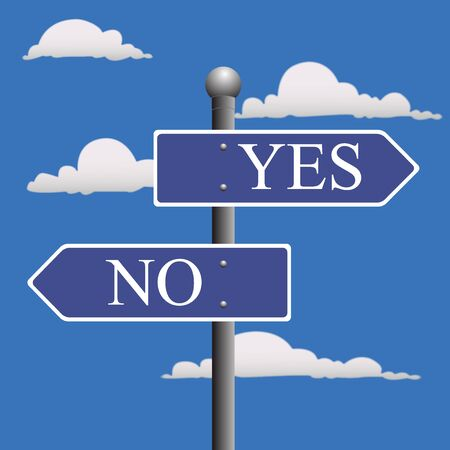 yes no: Street, sign, yes, no
