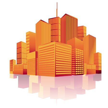 new york skyline: City, skyline, vector, silhouette, New York, Manhattan