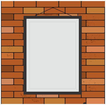 Seamless, brick, wall, frame