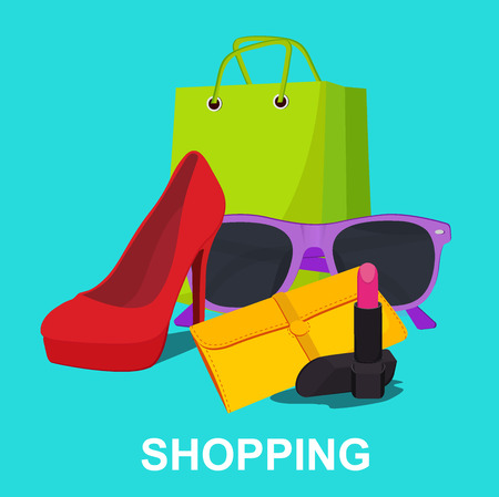 shopping concept, vector illustratie