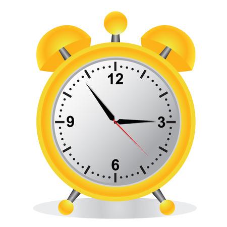 Alarm, klok, geel