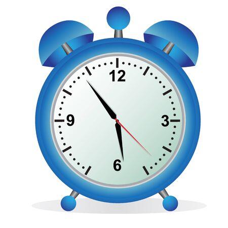 Alarm, klok, blauw