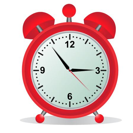 Alarm, klok, rood