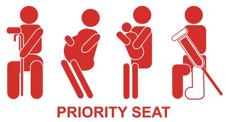 Gereserveerde zitplaatsen, teken