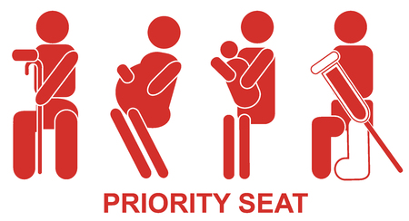 priority: Priority seats, sign Illustration