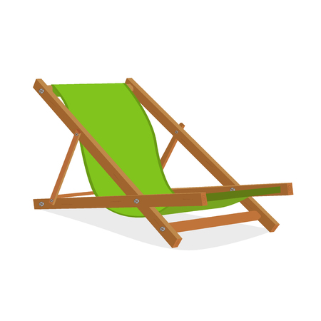 lounge chair: Beach lounge chair, design element, vector illustration Illustration