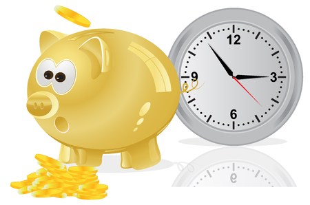 time is money: Time, money, concept