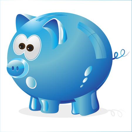 money box: Piggy, Money box, money bank, blue