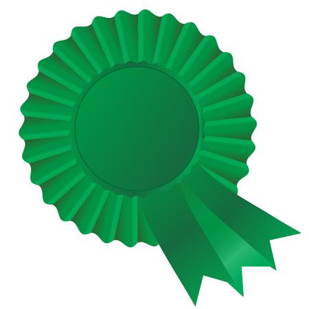 Green rosette ribon