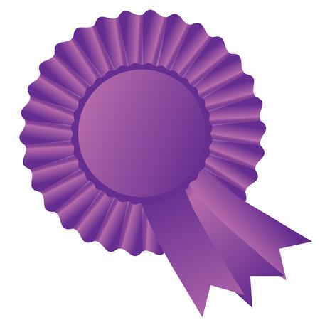 Purple rosette ribbon