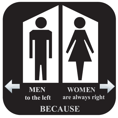 at sign: Toilet sign