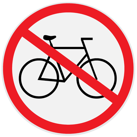 obey: No bikes allowed sign
