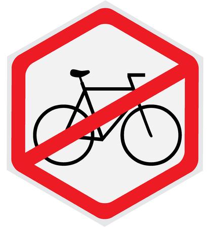 Keine Fahrräder erlaubt Zeichen Standard-Bild - 56810018