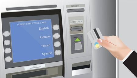 lighting button: ATM, credit card, bank