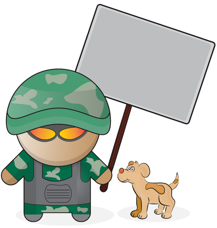 US soldier Stock Vector - 56810021