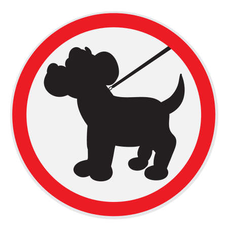 lead: Dogs on lead allowed sign