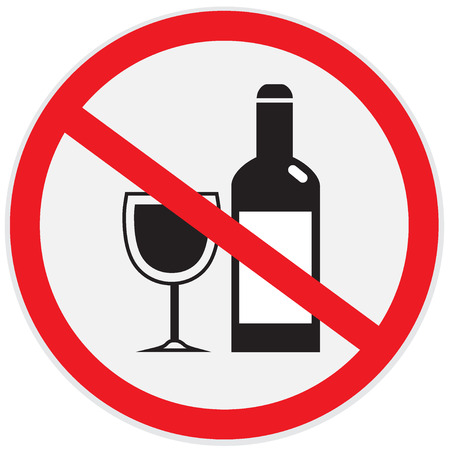 not permitted: No alcohol allowed sign