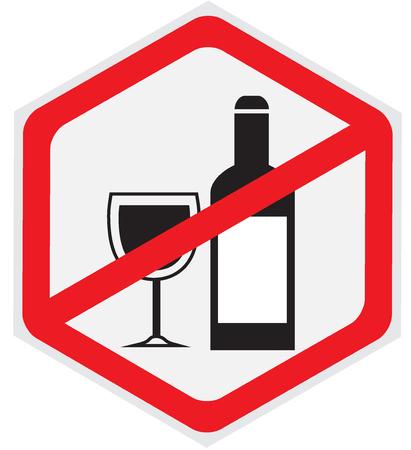 dependance: No alcohol allowed sign