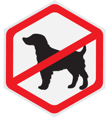 dog allowed: No dogs sign