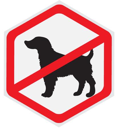 Pas de signe de chiens  Banque d'images - 56850503