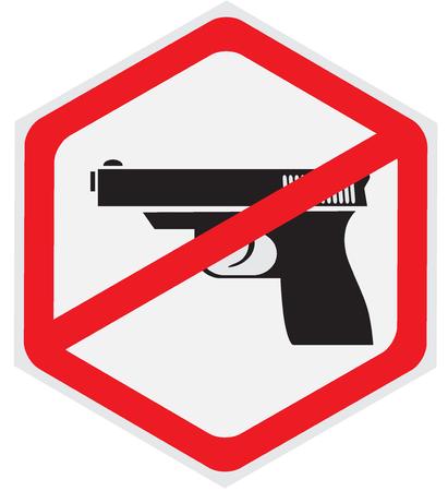 gun control: No, guns, allowed, sign