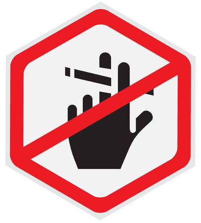 Sign, no, smoking Ilustrace
