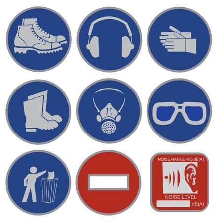 Safety signs Ilustrace