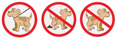 Ensemble de signes pour les chiens Banque d'images - 56850663