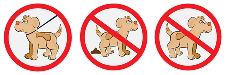 stay alert: Set of signs for dogs