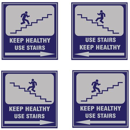 Stairs sign, international