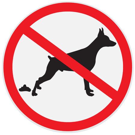 Pas de signes de merde de chien, icône, insigne Banque d'images - 56850691