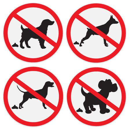 Pas de signes de merde de chien, icône, insigne Banque d'images - 56850690
