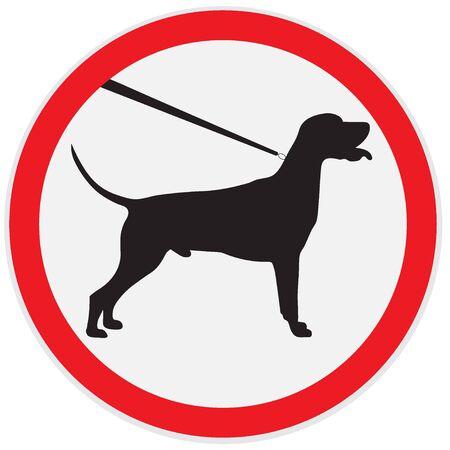 lead: Dog on lead sign