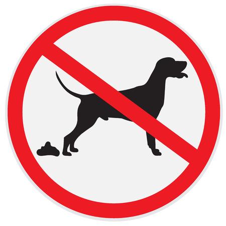 Pas de signes de merde de chien, icône, insigne Banque d'images - 56850696