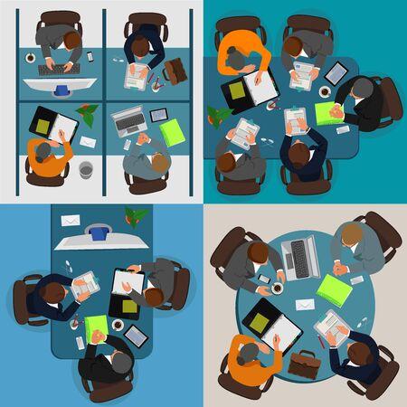 creative people concept, brainstorming, set, vector illustration
