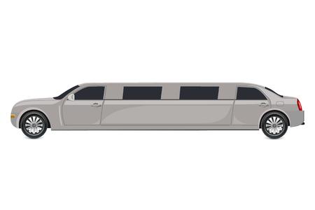 White limousine, vector illustration Ilustração