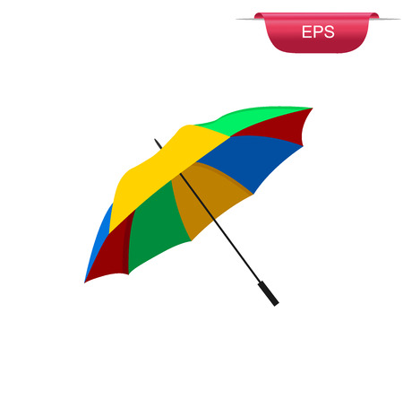 Beach umbrella, flat design element, vector illustration