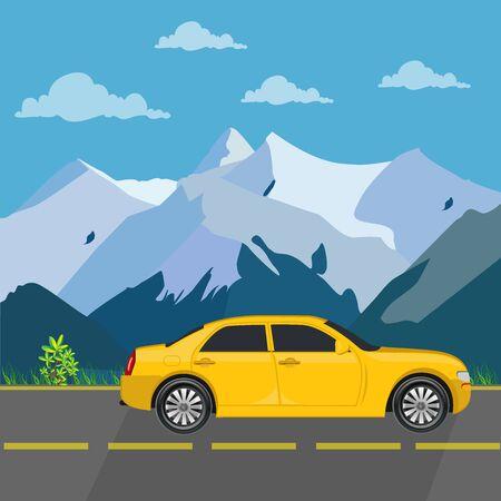 車旅行の概念の図